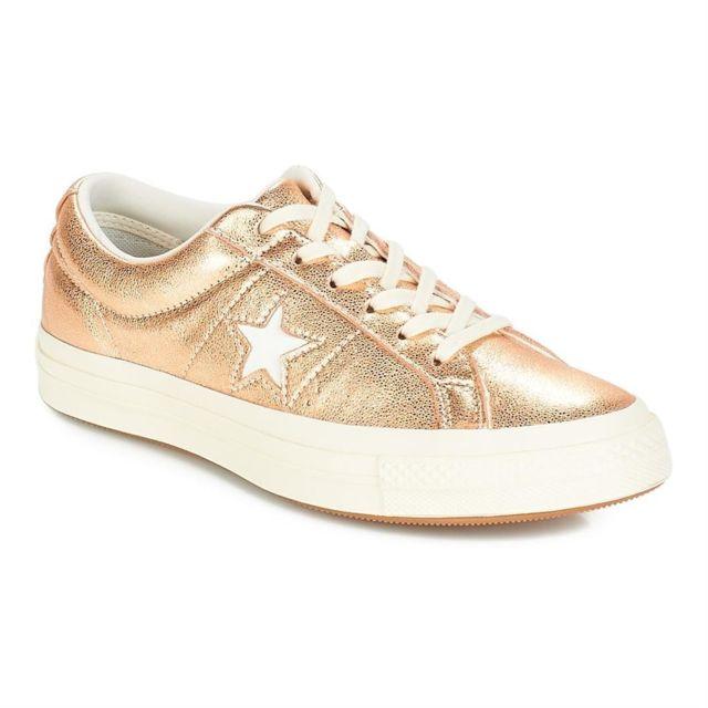 converse one star ox cuir femme