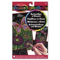 Toyland - Melissa & Doug - 15956 - Kit De Loisirs CrÉATIFS - Images Scratch Art À RÉVÉLATION De Couleurs - Papillons Et Fleurs