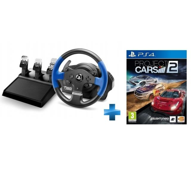 thrustmaster t150 rs pro project cars 2 ps4 pas. Black Bedroom Furniture Sets. Home Design Ideas