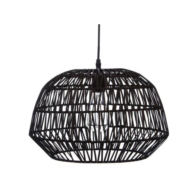 atmosphera createur d 39 interieur suspension aspect rotin. Black Bedroom Furniture Sets. Home Design Ideas