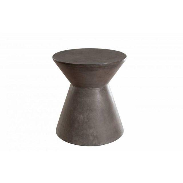Inside 75 Table basse industrielle bobine Nino en béton