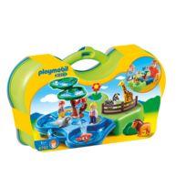 Playmobil France - 1 2 3 - Zoo transportable avec bassins aquatiques - 6792
