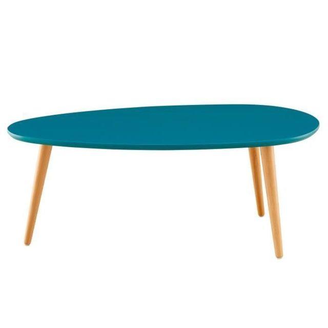 X Table Bleu Ovale Basse L 48 Scandinave Stone Cm Paon Laqué 88 8OvNPnym0w
