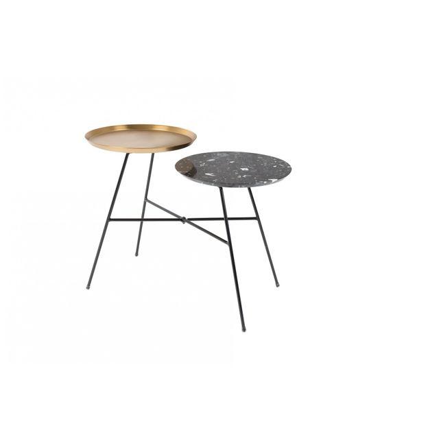 Boite A Design Table d'appoint design Indy black gold