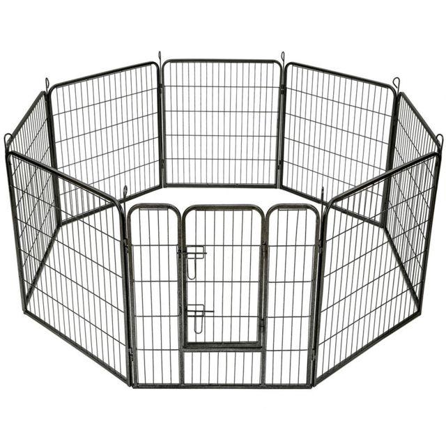 Bcelec Parc à Chiots, enclos pour chiens et autres animaux, 8 panneaux, modulable