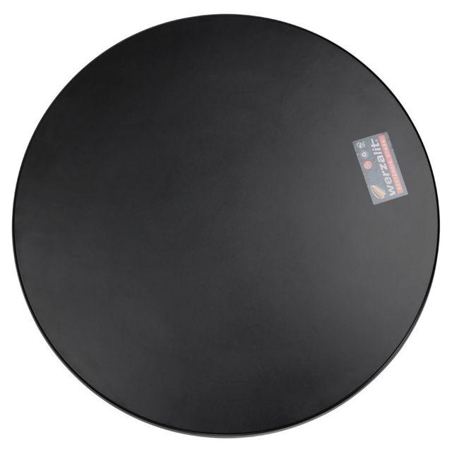 Alterego Plateau de table 'PUNTO' rond noir intérieur / extérieur - Ø 70 cm