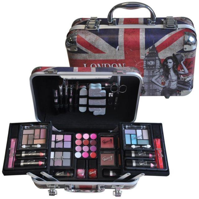 Gloss coffret cadeau mallette de maquillage forme valise collection londonweek 62pcs pas - Maquillage pas chere sans frais de port ...