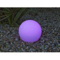 New Garden - Boule lumineuse extérieure multicolore solaire sans fil 20 cm Buly
