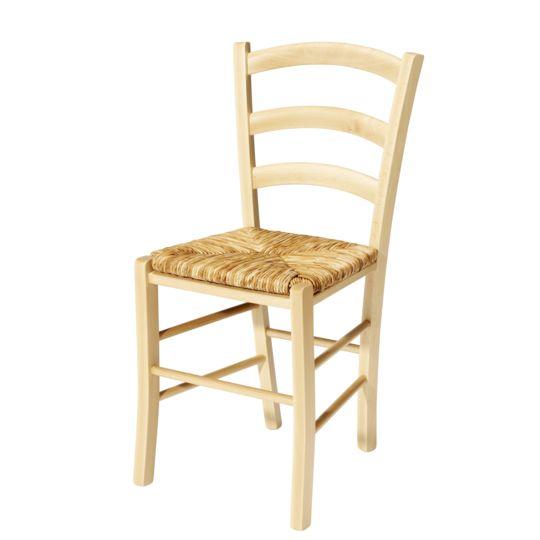 Chaise PAYSANNE - Hêtre FSG et paille de riz - Teinte naturelle