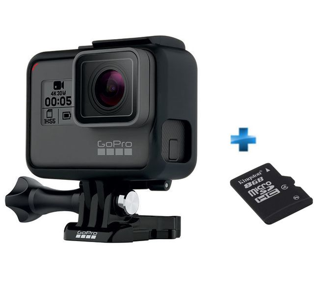 GOPRO - Pack Go pro Hero 5 Black Edition + Carte SD 8Go