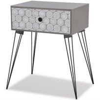 Table De Chevet Esprit Scandinave 1 Tiroir Gris