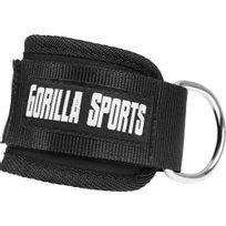 Gorilla Sports - Sangle de tirage cheville ou poignet Sangles Nylon, fermetures velcro, attaches