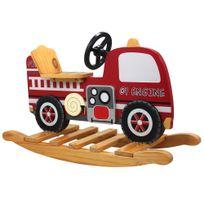 Teamson Kids - Cheval à bascule camion de pompier