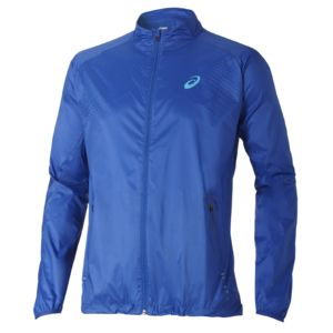 Asics - Coupe-vent Woven Jacket Bleu