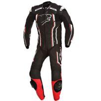 Bering - combinaison moto Supra-r cuir homme entrainement et Pro noir Bcc030 M 40 Fr