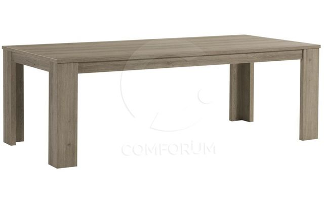 Comforium Table de salle à manger fixe contemporaine 190 cm coloris truffe