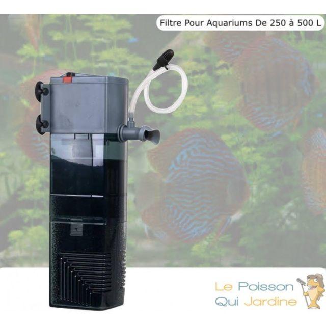 Le Poisson Qui Jardine Pompe, Filtre Intérieur Pour Aquariums De 250 à 500 Litres, 1000 l/h