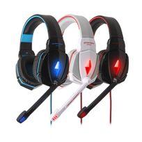 Tbs - Casque Gaming Kotion Each G4000 Hifi stéréo à arceau avec contrôle du volume par télécommande et Micro pour Gaming Noir et Bleu