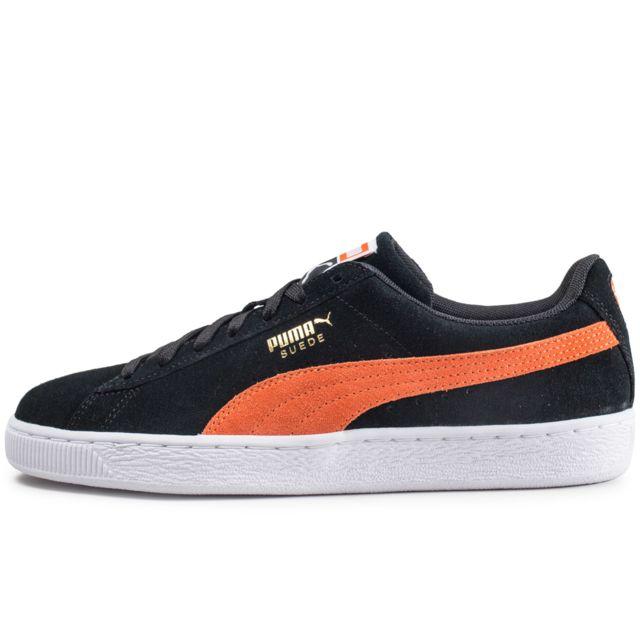 sports shoes 52c3a a0f6a Puma - Suede Classic Noire Et Orange