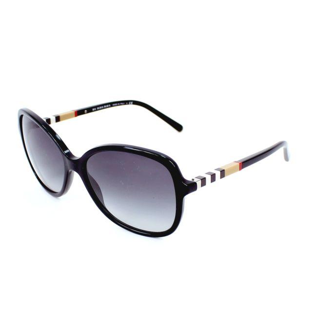 1d46d3f961 Burberry - Lunettes de soleil Be-4197 3001/8G Femme Noir - pas cher ...