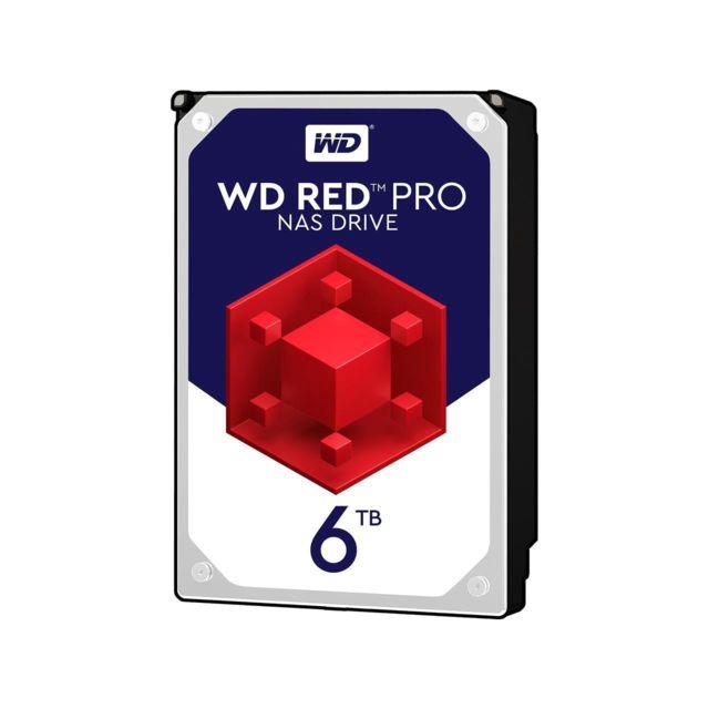 """WESTERN DIGITAL WD Red Pro 6 To 3.5"""" SATA III 6 Gb/s, Cache 256 Mo Fiabilité améliorée avec la technologie 3D Active Balance Plus et contrôles de récupération d'erreur avec la technologie NASware 3.0. Garantie limitée de 5 ans"""