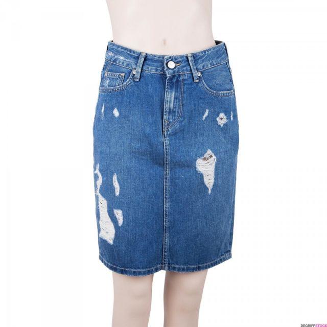 58d313d14e365 Pepe Jeans - Jupe en jean bleu femme 36 - pas cher Achat / Vente ...