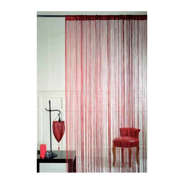 homemaison rideau fils spaghetti bordeaux pas cher achat vente rideaux rueducommerce. Black Bedroom Furniture Sets. Home Design Ideas