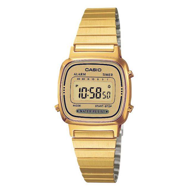 Casio - Montre femme Reloj Chapado Dig. La670WEGA-9EF Achat   Vente ... b8a9e4225562