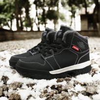 Chaussures Hautes bottes de neige extérieures antidérapantes imperméables pour hommes Couleur: Noir Taille: 45