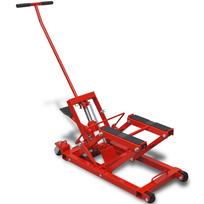 Justdeco - Superbe Cric hydraulique pour Moto/VTT 680kg Rouge neuf