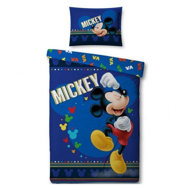mickey mouse disney parure de lit housse de couette enfant multicolore 140cm x 200cm. Black Bedroom Furniture Sets. Home Design Ideas