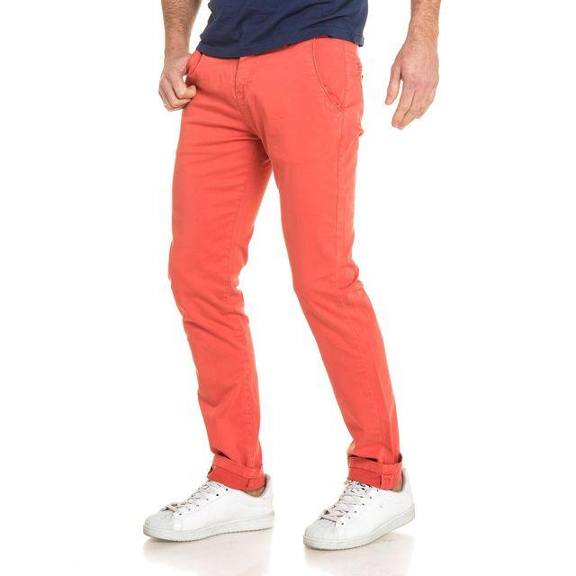 deeluxe pantalon homme chino rouge tomato 38 pas cher achat vente pantalon homme. Black Bedroom Furniture Sets. Home Design Ideas