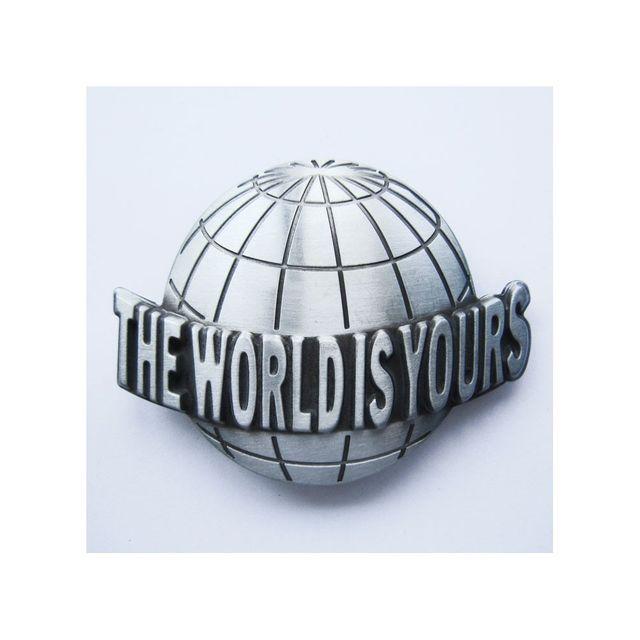 Universel - Boucle de ceinture the world is yours le monde est a toi ... 333d6e7d35e
