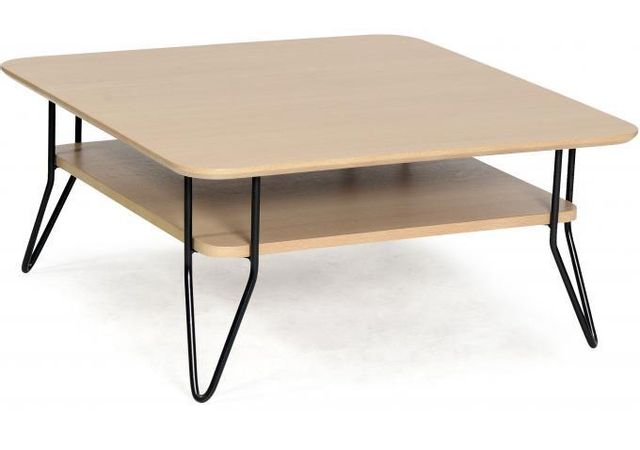 Declikdeco Table Basse Carree Scandinave En Chene Geo Pas Cher