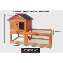 Bigb - cage - Poulailler - Clapier - Lapinière en bois