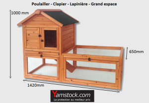 Bigb cage - Poulailler - Clapier - Lapinière en bois