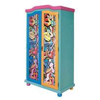 "Paris Prix - Armoire 2 Portes ""Kids Graffiti"" Multicolore"