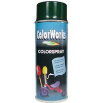 Colorworks - Peinture aérosol brillante Vert pin - 400 ml