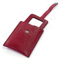 Volumica - Miroir de poche cuir Rouge-bordeaux Beaubourg