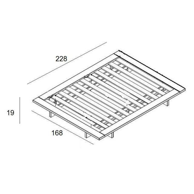 inside 75 cadre de lit japonais japan miel 140 200cm avec sommier natural nc pas cher. Black Bedroom Furniture Sets. Home Design Ideas