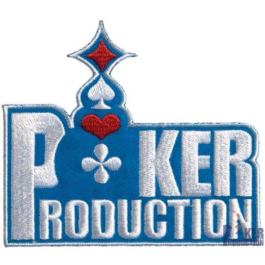 Poker Production - Patch brodé : Poker-production Bleu