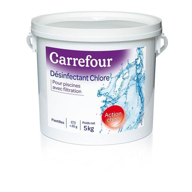 carrefour d sinfectant chlore pour piscines avec filtration 5 kg 3731005 pas cher achat. Black Bedroom Furniture Sets. Home Design Ideas