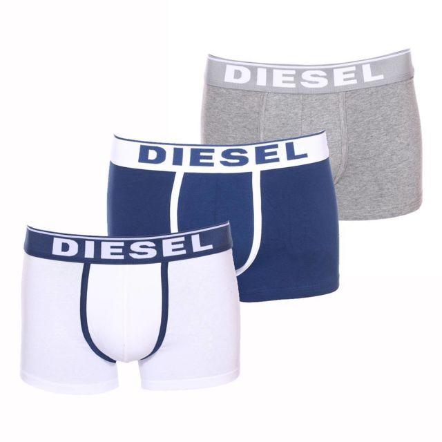 342082aa88b Diesel - Lot de 3 boxers Damien en coton stretch blanc