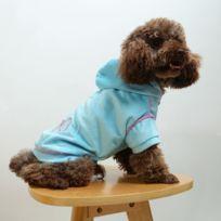 Wewoo - Vêtements bleu pour chien de style automne-hiver avec taille de diamant: Xs, buste: 33-35cm, col: 21-25cm Sweat à capuche court en peluche