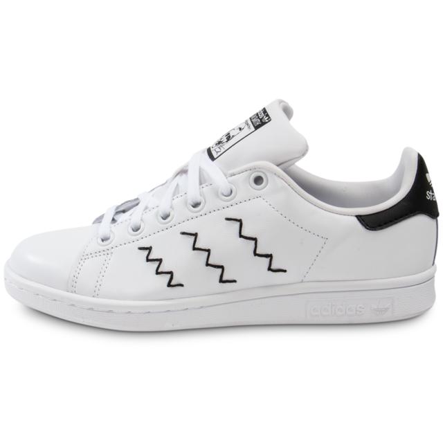 Adidas originals - Stan Smith Zigzag Blanche Et Noire - Tennis Femme