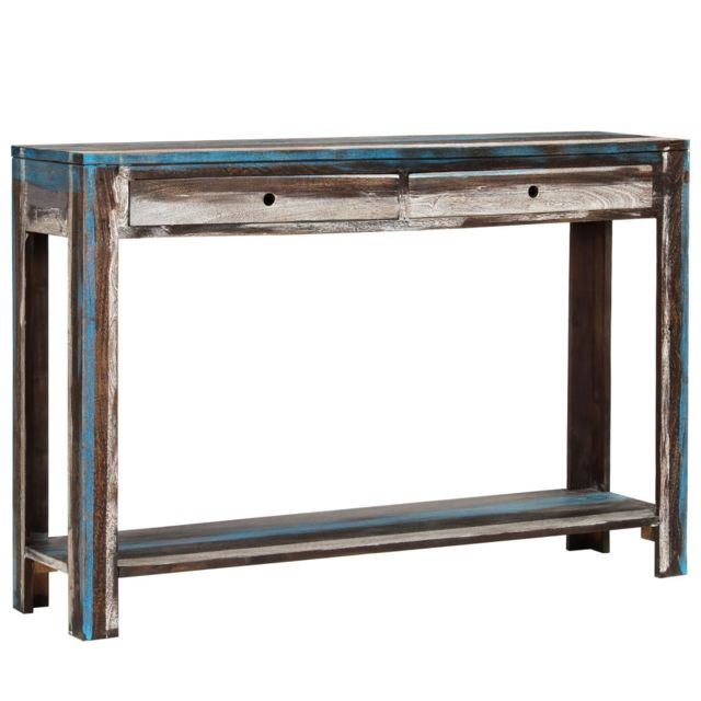 Admirable Consoles gamme Nassau Table console Bois massif Vintage 118 x 30 x 80 cm