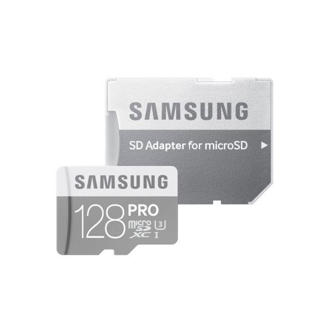 Samsung - PRO 128 Go U3 AVEC ADAPTATEUR SD classe 10