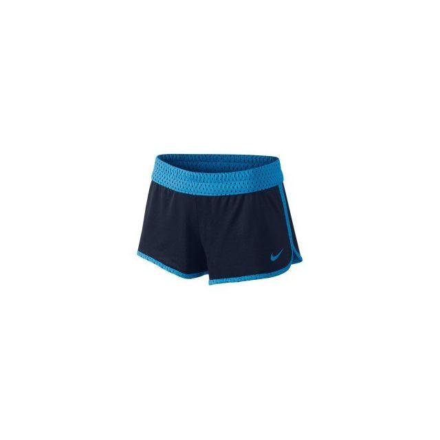 Nike - Short réversible Gym bleu marine bleu femme - pas cher Achat   Vente  Collants - RueDuCommerce d923eff227b