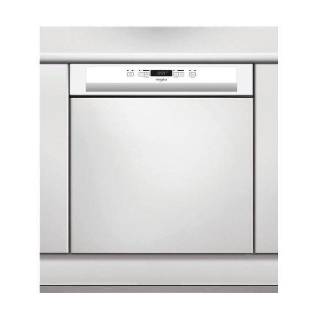 Whirlpool lave-vaisselle 60cm 14 couverts a++ intégrable avec bandeau blanc - wbc3c26