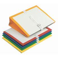 Fast - pochette d'archive à soufflet pvc 26x35 jaune